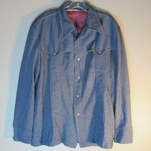 Vintage 1970's  Men 's Lee MR Denim Shirt Jacket L